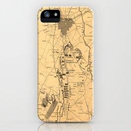 Vintage Map of The Gettysburg Battlefield (1863) 2 iPhone Case