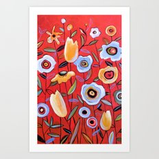 Garden of Red Art Print