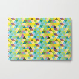 Many Triangles Metal Print