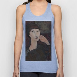 "Amedeo Modigliani ""Adrienne (Woman with Bangs)"" (1916) Unisex Tank Top"