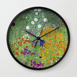 Flower Garden - Gustav Klimt Wall Clock