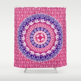 Pink tapestry Shower Curtain