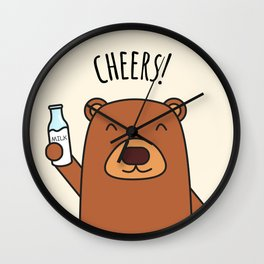 Cheers, Bear! Wall Clock