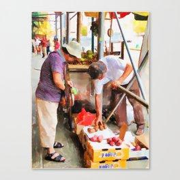 Street Vendors 1 Canvas Print