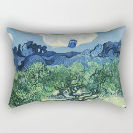 Tardis Flying Tree Rectangular Pillow