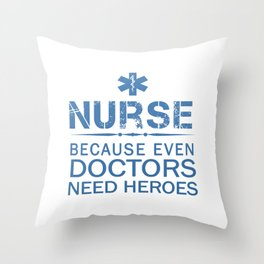 NURSE HEROES Throw Pillow