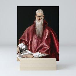 El Greco Saint Jerome as Scholar Mini Art Print