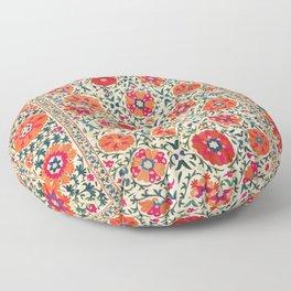 Kermina Suzani Uzbekistan Embroidery Print Floor Pillow