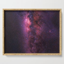 Milky Way Galaxy (Square) Serving Tray