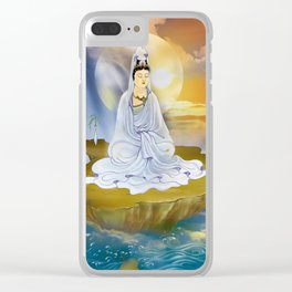 Kwan Yin - Goddess of Compassion Clear iPhone Case