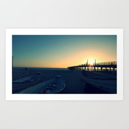 Hermosa Pier Sunset Art Print