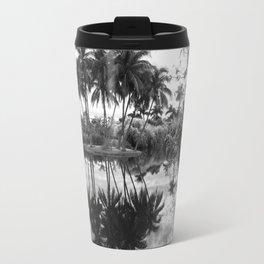 Palm Island  Black&White Travel Mug