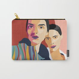 Womanity - Sisterhood - Model#2.3 - fashion illustration Carry-All Pouch