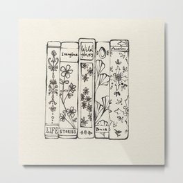 Row of Books Metal Print