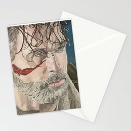 Rick and Negan, oil painting Stationery Cards