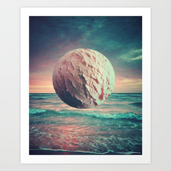 Iced Sun Art Print