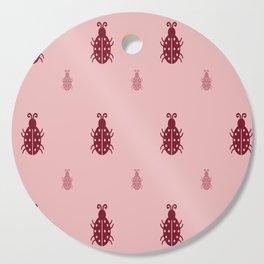 PINK BEETLE Cutting Board