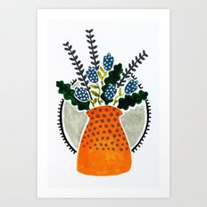 Orange pot Art Print