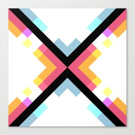 Abstract Retro Pattern 05 Canvas Print