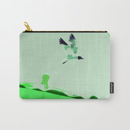 Beach Graphics No 2: Kelly Green Carry-All Pouch