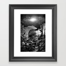 XIII. Death & Rebirth Tarot Card Illustration (Alternative Version) Framed Art Print
