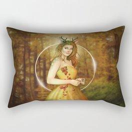 Autumn Woodland Fairy Rectangular Pillow
