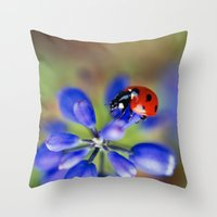 polka dot Throw Pillows featuring Polka Dot by Ekaterina La