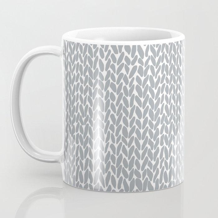 Hand Knit Light Grey Coffee Mug