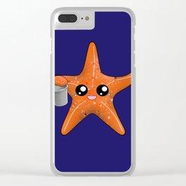 Kawaii Starfish Clear iPhone Case