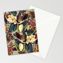 FLORAL AND BIRDS XXI-II Stationery Cards