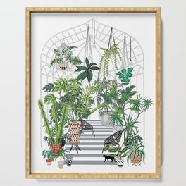 greenhouse illustration Serving Tray