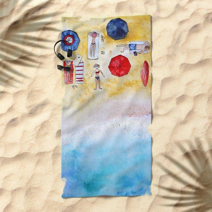 Under the sun Beach Towel