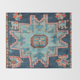 Karabakh  Antique South Caucasus Azerbaijan Rug Print Throw Blanket
