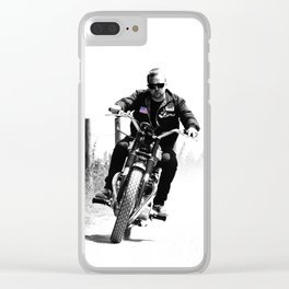 2 Wheels Move The Soul Clear iPhone Case