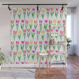 Watercolor tulips from Holland Wall Mural
