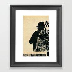 Mystery Man Framed Art Print