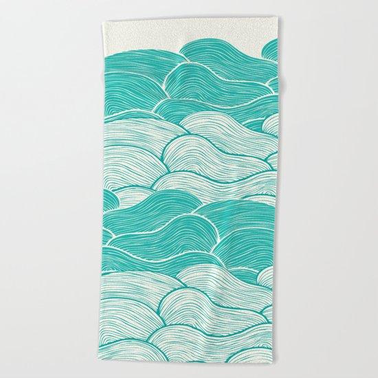 The Calm and Stormy Seas Beach Towel