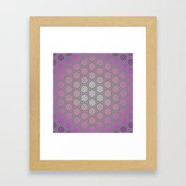 Hexagonal Dreams - Purple Pink Gradient Framed Art Print