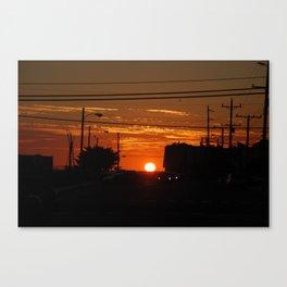 Sunset LBI Canvas Print