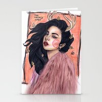 charli xcx Stationery Cards featuring Charli by The vintage icon