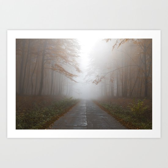 Forest Walk #fog Art Print