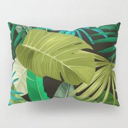 Tropical Leaf Pattern Pillow Sham