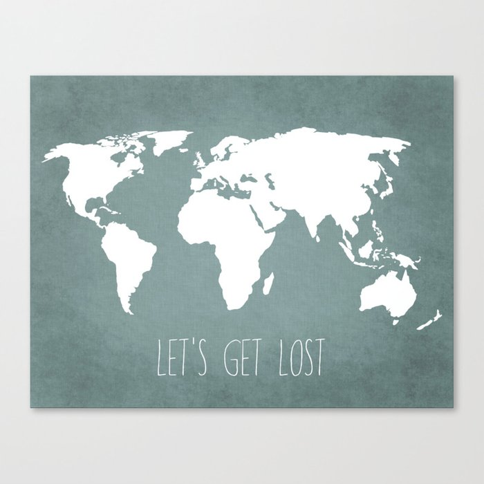 Lets get lost world map canvas print by bysamantha society6 lets get lost world map canvas print gumiabroncs Gallery