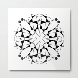 ABSTRACT GEOMETRIC MANDALA Metal Print