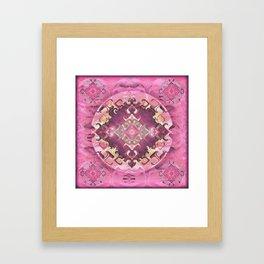 Radiant Romance and Reverence Mandala Framed Art Print