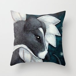 LOVELY GREYHOUND ANGEL DOG IN HEAVEN Throw Pillow