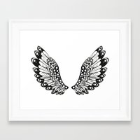 wings Framed Art Prints featuring wings by Li-Bro