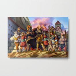 Menacing defense Metal Print