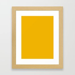 American Yellow Framed Art Print
