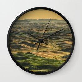 Shades of the Palouse Wall Clock